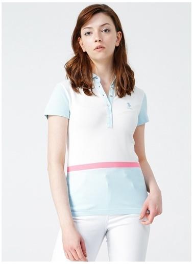 U.S. Polo Assn. U.S. Polo Assn. Kadın Mavi Polo T-Shirt Mavi